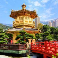 Golden Pavilion, Nan Lian Garden, Chi Lin Nunnery, Hong Kong, China, Asia