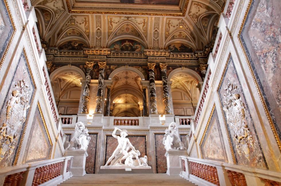 Interior, Museum of Art History, Vienna, Austria
