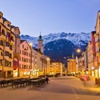 Dusk, Street, Innsbruck, Austria