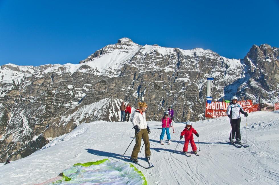 Skiers, Mountain, Innsbruck, Austria