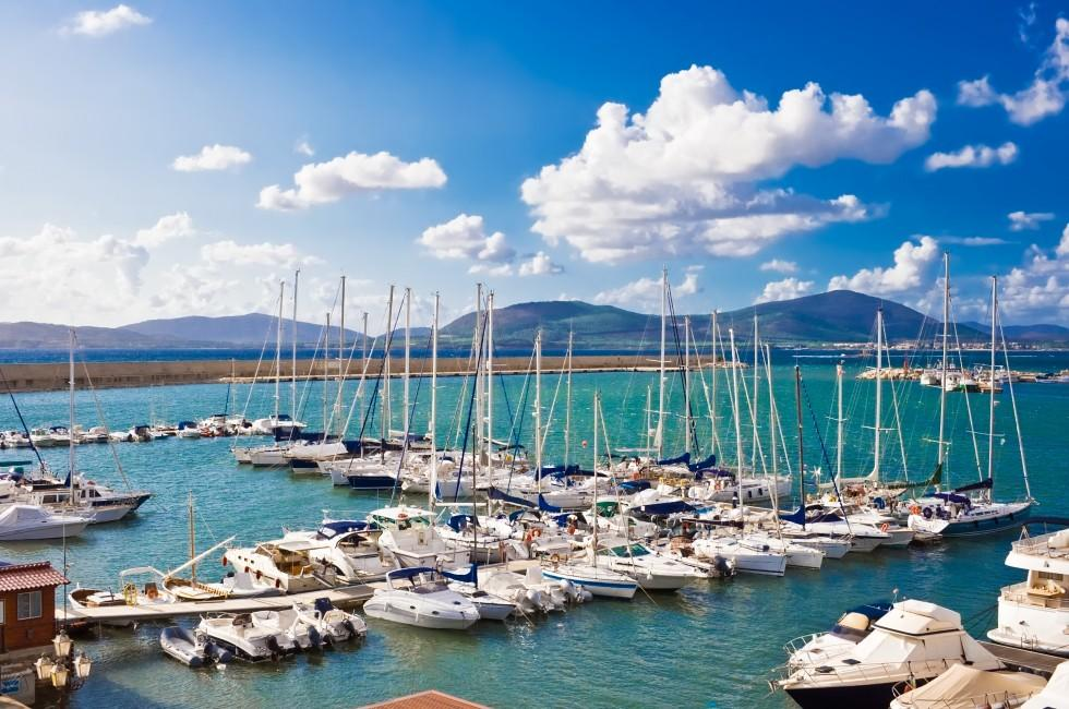 Boats, Marina, Alghero, Sardinia, Italy