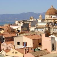 Rooftops, Cityscape, Cagliari, Sardinia, Italy