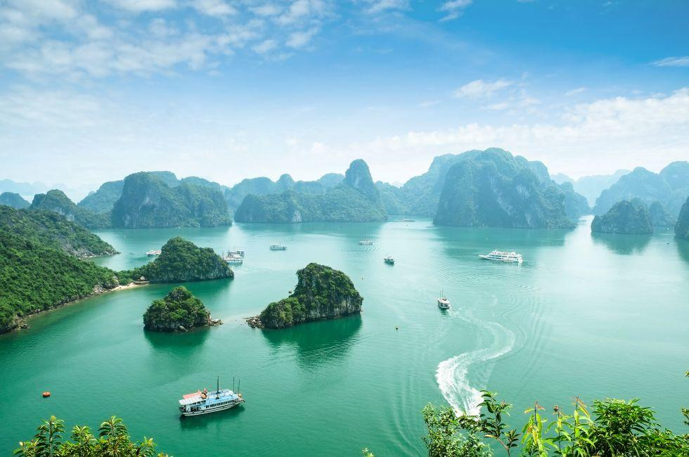 Boats, Halong Bay, Vietnam