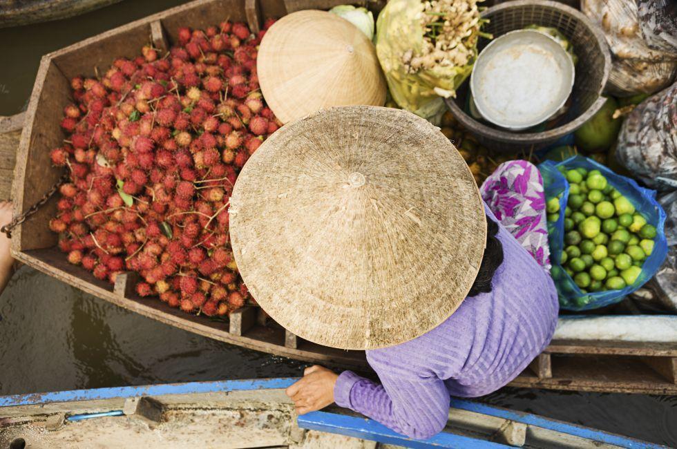 Floating Market, Mekong River Delta, Vietnam