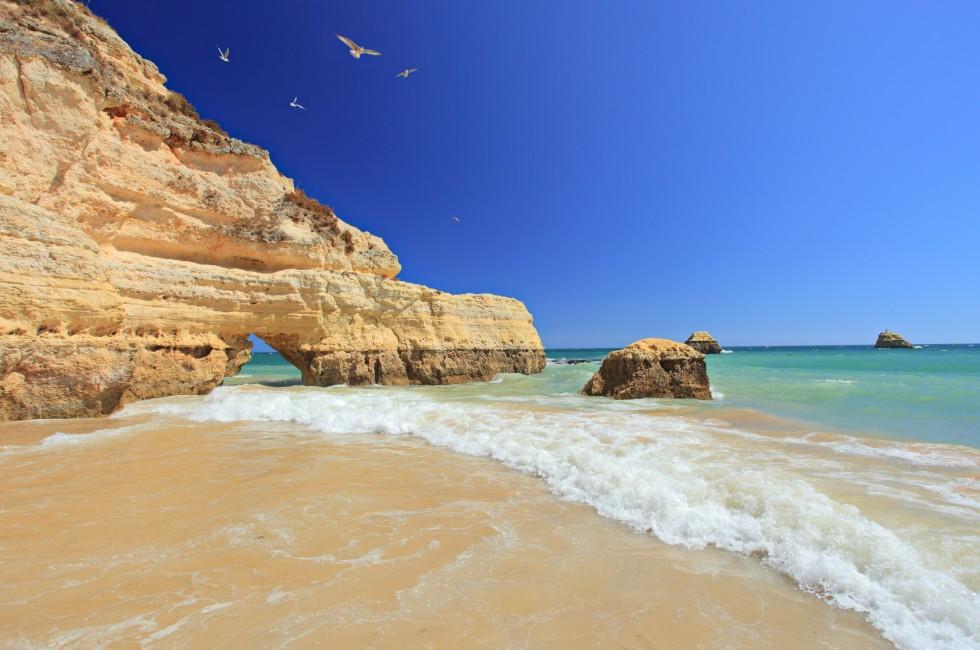 Praia da Rocha Beach, Portimao, Algarve, Portugal