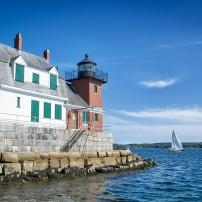 Rockland Harbor, Maine, USA