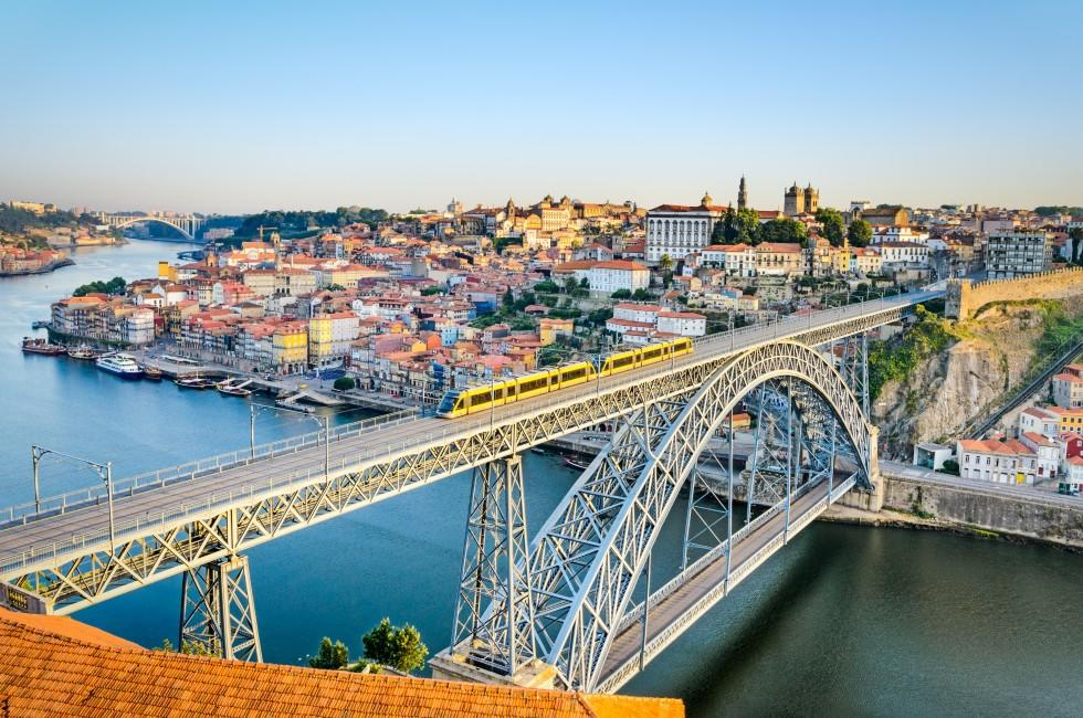 Dom Luiz Bridge, Douro River, Porto, Portugal