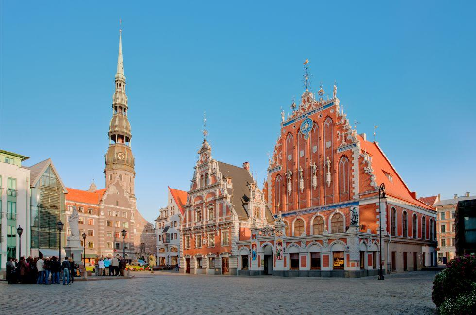 House of Blackheads, St. Peter's Church, Old Town Square, Riga, Latvia