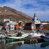Boats, Marina, Church, Husavik, Iceland