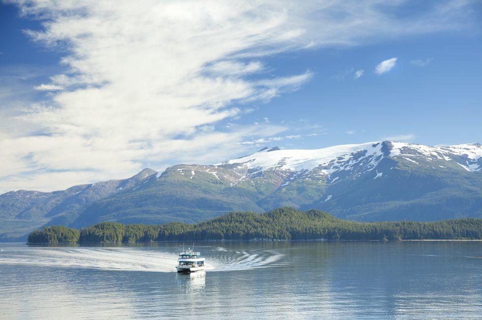 Boat, Tracy Arm, Fjord, Alaska