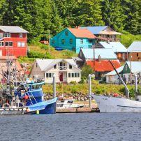 Fishing Boats, Waterfront, Hoonah, Chichagof Island, Alaska