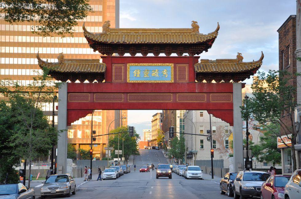Chinatown Gateway, Chinatown, Montreal, Quebec, Canada