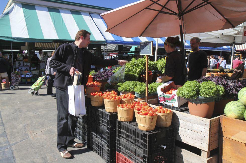 Jean-Talon Market, Little Italy, Montreal, Quebec, Canada