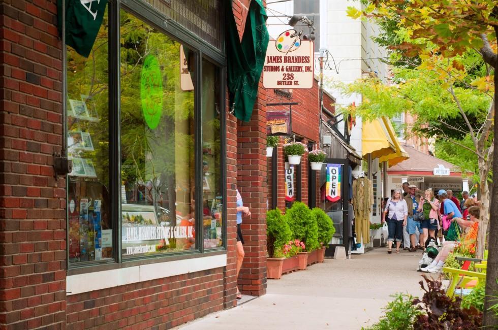 Butler Street, Saugatuck, Michigan, USA