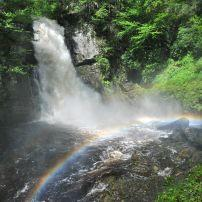 Bushkill Waterfall, Rainbow, Poconos, Pennsylvania