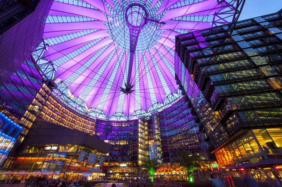 Sony Center, Postdamer Platz, Berlin, Germany, Europe.