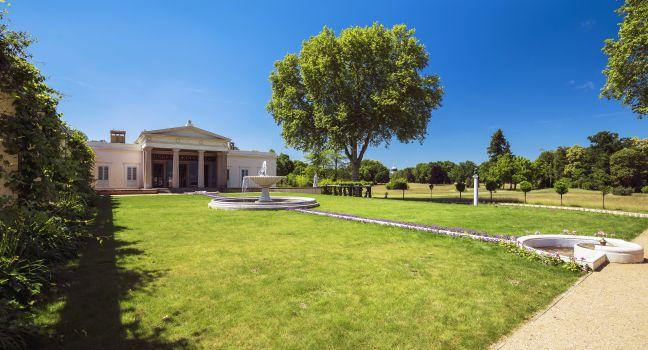 Charlottenhof Palace, Sanssouci Park, Potsdam, Berlin, Germany, Europe.