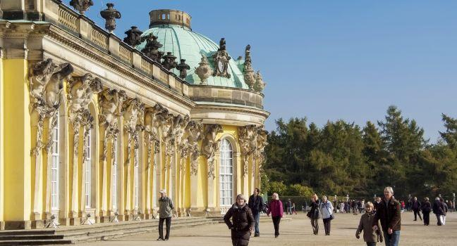 Sanssouci Palace, Sanssouci Park, Potsdam, Berlin, Germany, Europe.