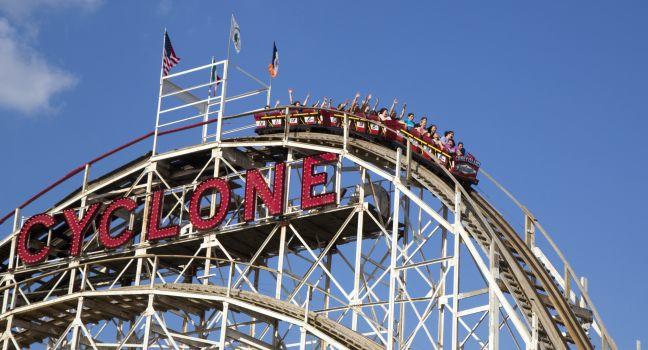 Cyclone Roller Coaster, Coney Island, Brooklyn, New York City, New York