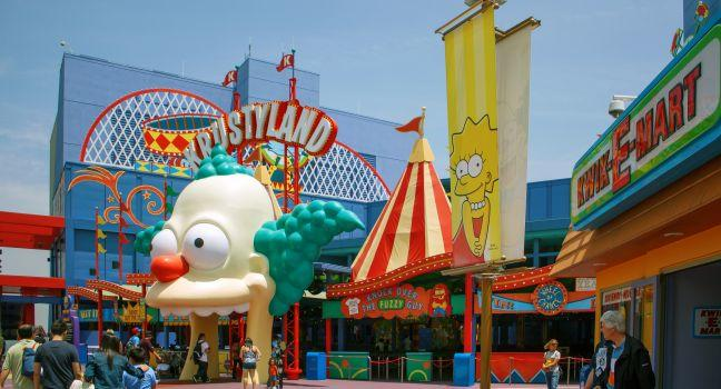 The Simpsons Ride, Universal Studios, Hollywood, California