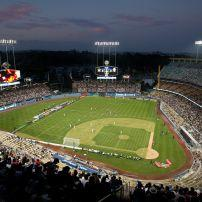 Dodger Stadium, Echo Park, Hollywood, Los Angeles, California, USA.
