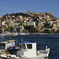Boats, Harbor, City Wall, Waterfront, Kavala, Greece