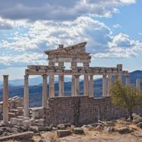 Temple of Trajan, Acropolis of Pergamon (Bergama), Dikili, Turkey