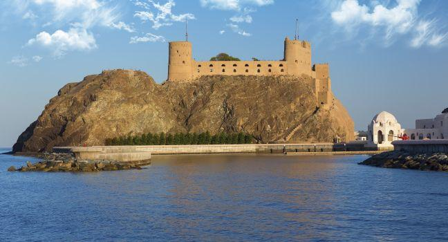 Island, Fort Al-Jalali, Muscat, Oman, Africa and Middle East