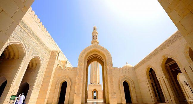 Sultan Qaboos Grand Mosque Gate, Muscat, Oman, Africa and Middle East
