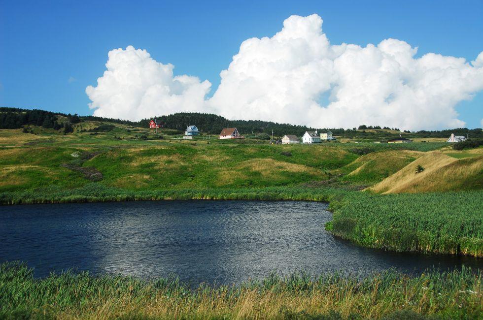 Pond, Magdalen Islands, Quebec, Canada