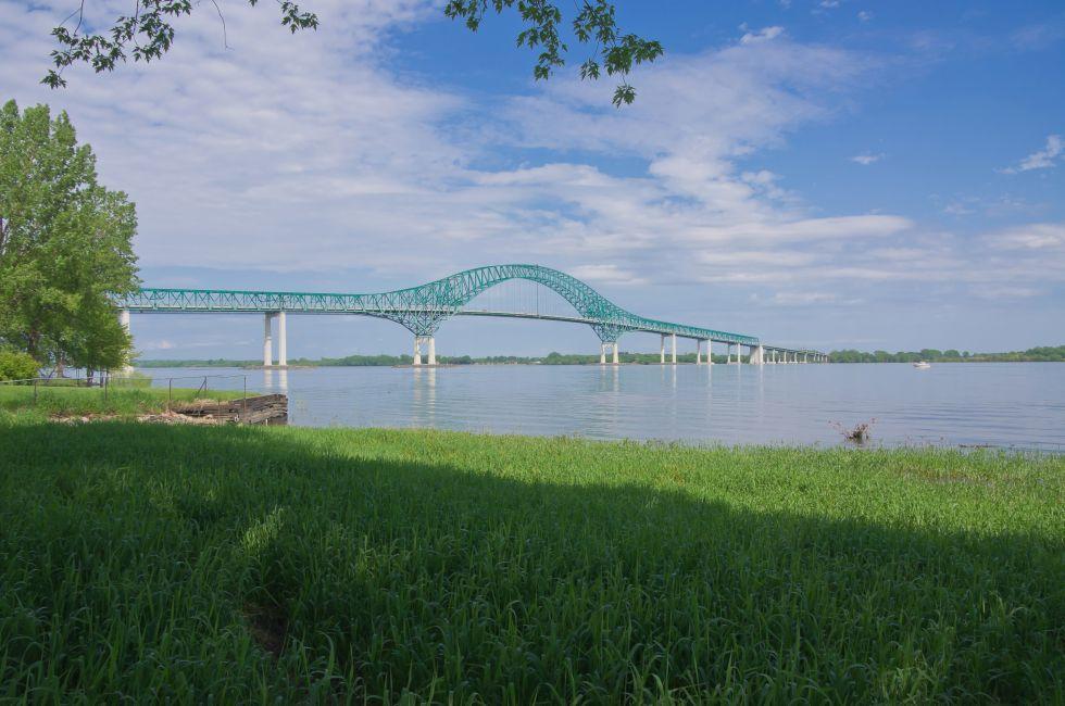 Laviolette Bridge, St. Maurice River, Trois-Rivieres, Quebec, Canada