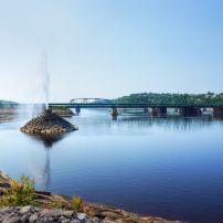 Bridge, Public Park, Saguenay, Quebec, FA