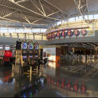 Slot Machines, McCarran Airport, Las Vegas, Nevada, USA, North America