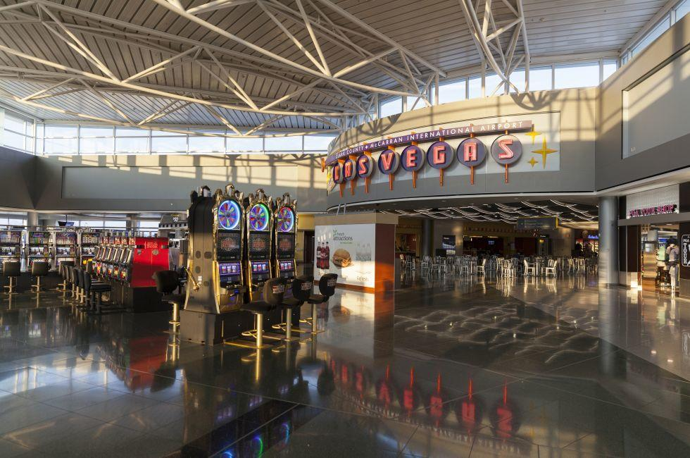 Slot Machines, McCarran Airport, Las Vegas, Nevada, USA, North America