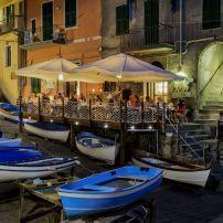 Boats, Restaurant, Riomaggiore, Cinque Terre, The Italian Riviera, Italy