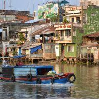 Boats, Mekong River, My Tho, Vietnam