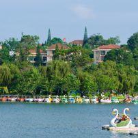 Caramarans, Xuan Huong Lake, Dalat, Vietnam