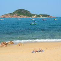 Tourists, Beach, Quy Nhon, Vietnam