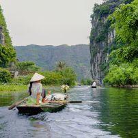 Woman in Boat, Tam Coc Grotto, Ninh Binh, Vietnam