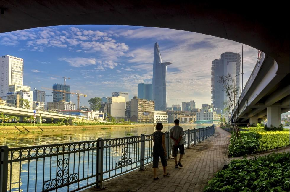 Van Don Canal, Calmette Bridge, Skyline, Ho Chi Minh City, Vietnam