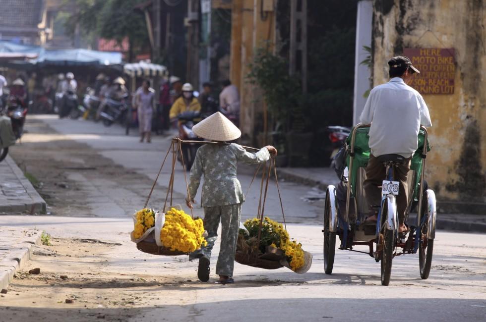 Woman, Florist, Market, Ho Chi Minh City, Vietnam
