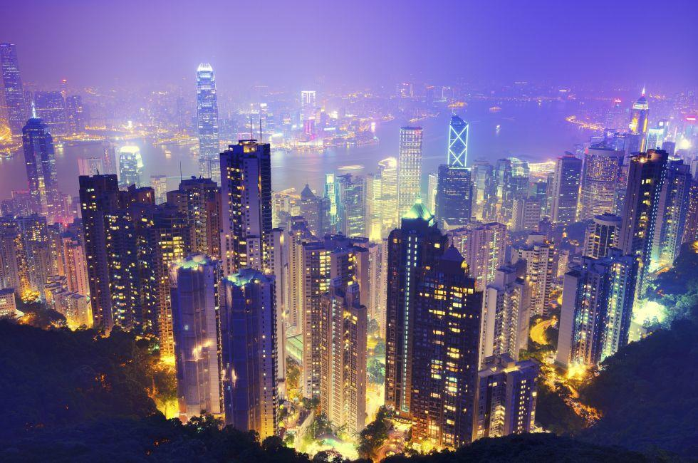 Victoria Peak, Central, Hong Kong, China, Asia.