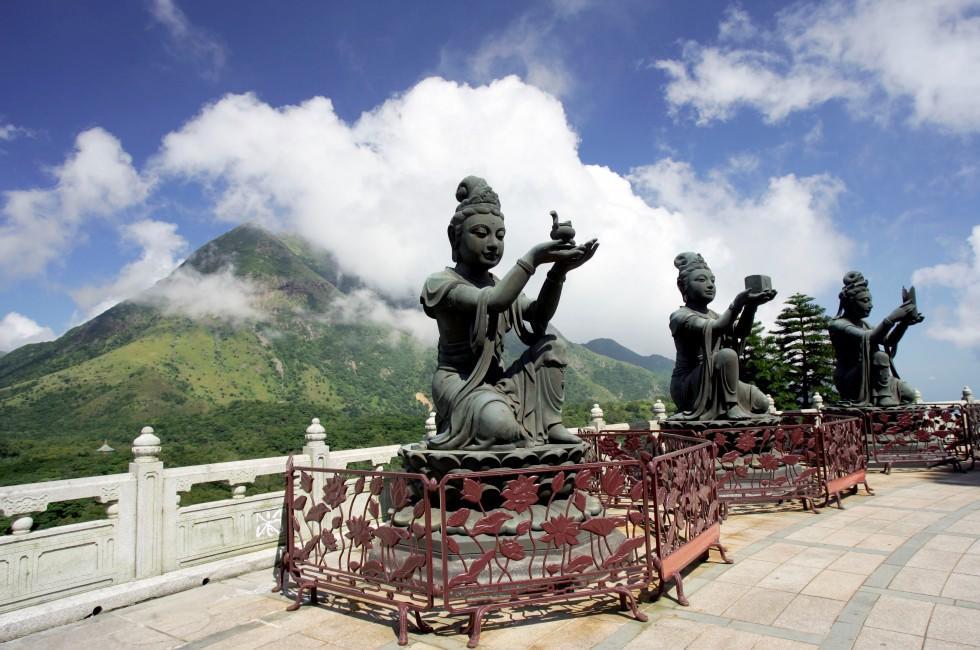 Buddhist Statues, Po Lin Monastery, Lantau Island, Hong Kong, China