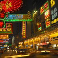 Neon lights, Wan Chai, Hong Kong, China, Asia