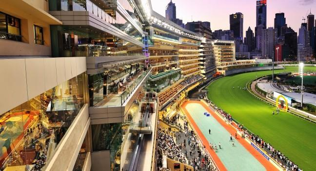 Happy Valley Racecourse in Hong Kong, Hong Kong, China