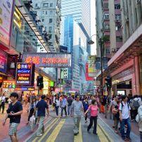 Shopping Street, Causeway Bay, Hong Kong, China, Asia