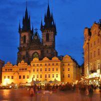 Old Town Square, Staroměstské náměstí, Stare Mesto (Old Town), Prague, Czech Republic, Europe.