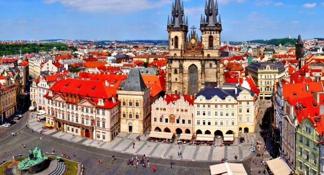 Staroměstské náměstí, Old Town Square, Stare Mesto, Old Town, Prague, Czech Republic; Europe