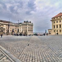 Square, Castle Area, Hradcany, Prague, Czech Republic, Europe.