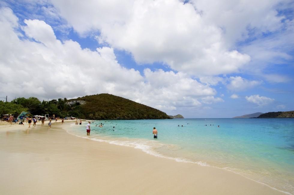 Swimmers, Coki Beach, St. Thomas, USVI, Caribbean
